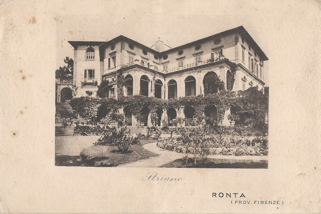 Villa Striano pictured in a postcard from 1918