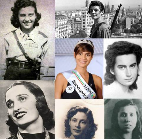 Miss Italia among Italian partisans